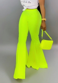 (Only Pants)Women Fashion Solid Color Flare Long Pants