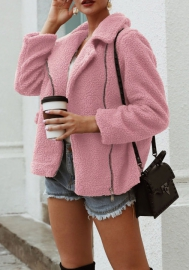 (Estimate Sent out within 3~6 work days) Women's Coat Casual Lapel Fleece Fuzzy Faux Shearling Warm Winter Outwear Jackets