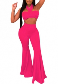 Women Fashion Tube Bandage Tops and Long Pants 2 Piece Suit