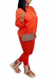 Women fashion Orange two piece set