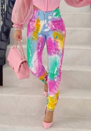 (Only Pants)2020 Styles Women Fashion INS Styles Fashion Colorful Long Pants