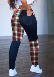 2020 Styles Women Fashion INS Styles Plaid Long Pants