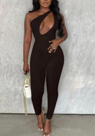 (Coffee)(Pre-Sale)2021 Styles Women Fashion INS Styles Summer Jumpsuit