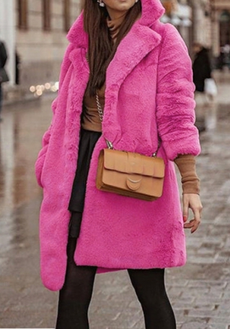 (Estimate Sent out within 3~6 work days) Women's Fashion Long Sleeve Faux Fur Shearling Shaggy Oversized Coat Jacket with Pockets Warm Winter