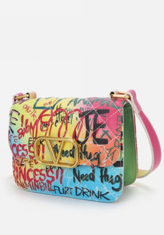 Women Fashion Graffiti Handbag